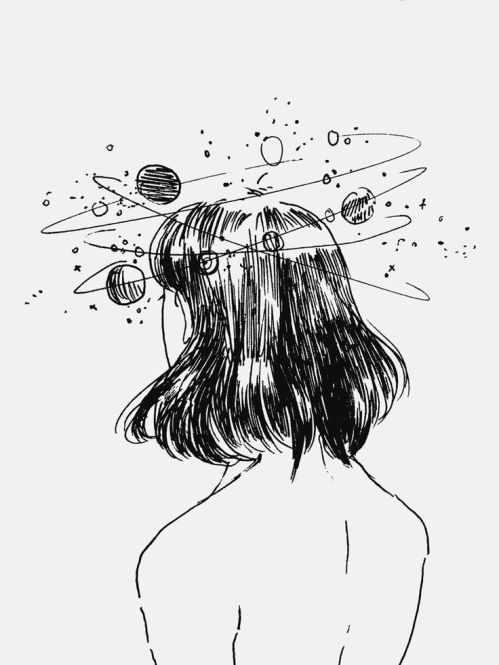 7c755a41c0a5f300709fd9c43e965c0e--girl-drawings-tumblr-space-drawings