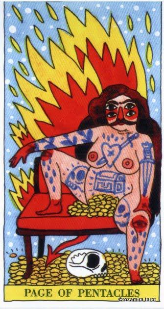 Pageof Pentacles Tarot De Fuego