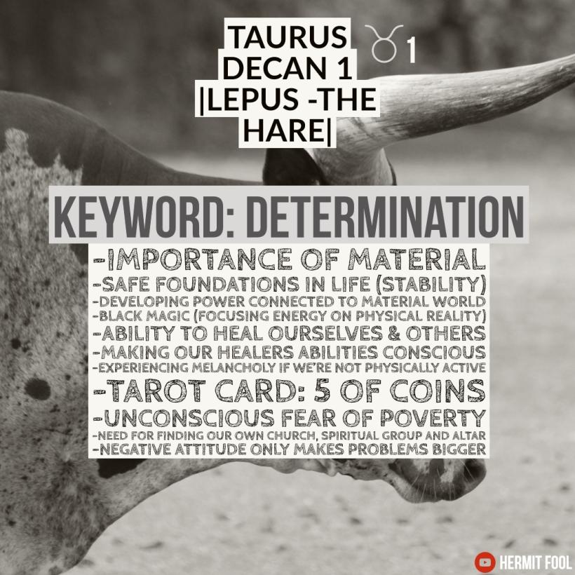 Taurus decan 1 description(1)